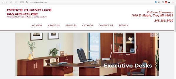 Clients michigan professional web design web for Office design furnishings ypsilanti mi